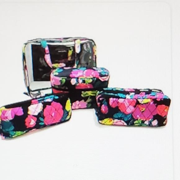 Vera Bradley Handbags - Vera Bradley Deluxe 4 Piece Cosmetic Travel Bundle
